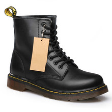 hot deal buy doc martins women boots split leather women boots snow shoes motorcycle winter shoes men martin snow boots botas negras mujer