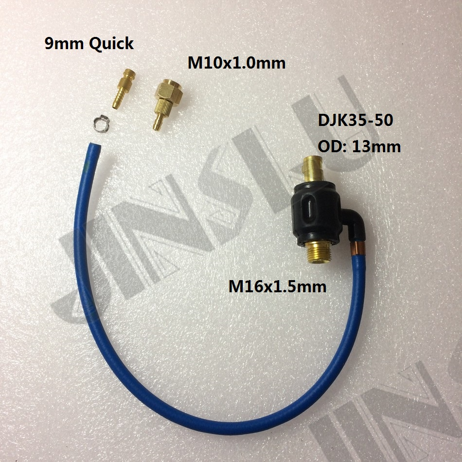 Dinse 35 50 M10 M16x1.5mm Adaptor Quick Connector for Regular Tig ...