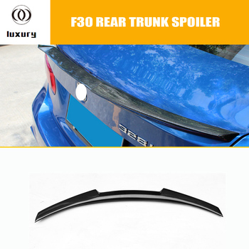 M4 Styling Carbon Fiber Rear Wing Spoiler for BMW F30 3Series 320i 328i 328d Sedan & F80 M3 2012 - 2017 image