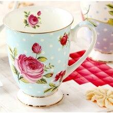 300 ML, taza de té bone china, Taza de cerámica beauty cafe, tazas de café de regalo de boda divertidas, taza elegante vintage nespresso, hogar