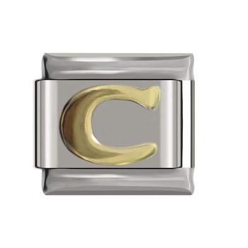 Hapiship Original Daisy Gold 26 Letters A-Z Italian Charm Fit Bracelet Stainless Steel Jewelry Making 3