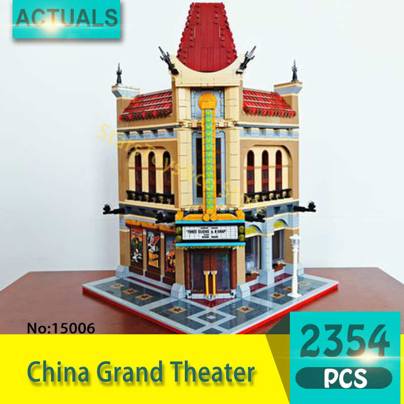 Lepin 15006 2354Pcs Street View series China Grand Theater Model Building Blocks Set  Bricks Toys For Children Gift 10232 2016 new lepin 15006 2354pcs creator palace cinema model building blocks set bricks toys compatible 10232 brickgift