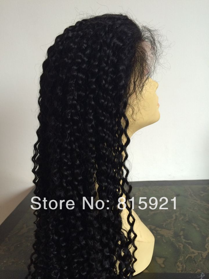 Stock Quality Remy Human Hair Afro Kinky Curl Lace Front Wigs Sale - EJS Shop store