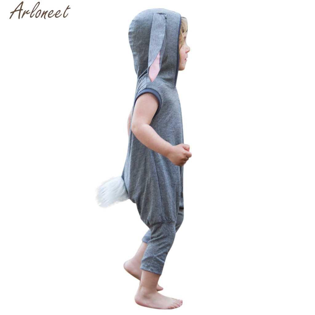 ARLONEET enfant en bas âge enfant bébé fille garçon sans manches lapin lapin pâques barboteuse combinaison vêtements doux main sentiment Costumes 19Apr26 P35