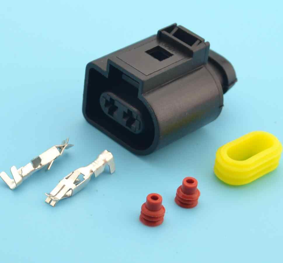 small resolution of 5 kits automotive wiring harness connector 1j0973722 electrical horn plug 1j0 973 722