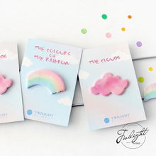 30pages/pc The Colors Of The Rainbow Memo Pad Sticky Notes Bookmark School Office Supply Note Paper Scrapbooking Sticker