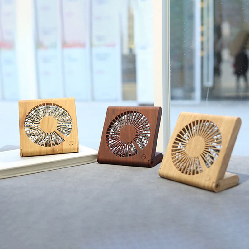 Usb 5V 4 5W Wood Grain Ultra Thin Foldable Fan For Notebook Household Appliances in Fans from Home Appliances