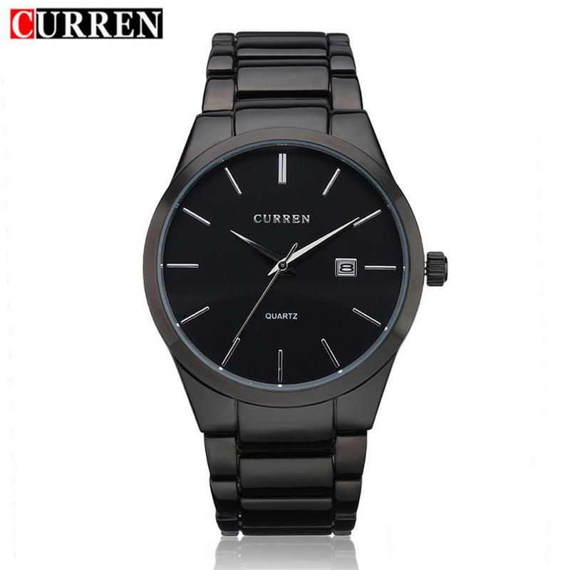 3834d46fa7b CURREN 8106 Ultra-thin Men s Watch Stainless Steel Business Casual Sport  Waterproof Quartz Watch Wristwatch With Date Display