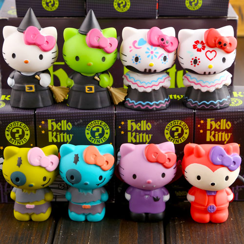 sanrio hello kitty halloween party special edition mysterious witch cartoon cute 7cm pvc figure decoration toys 8pcs set in action toy figures from toys - Hello Kitty Halloween Decorations