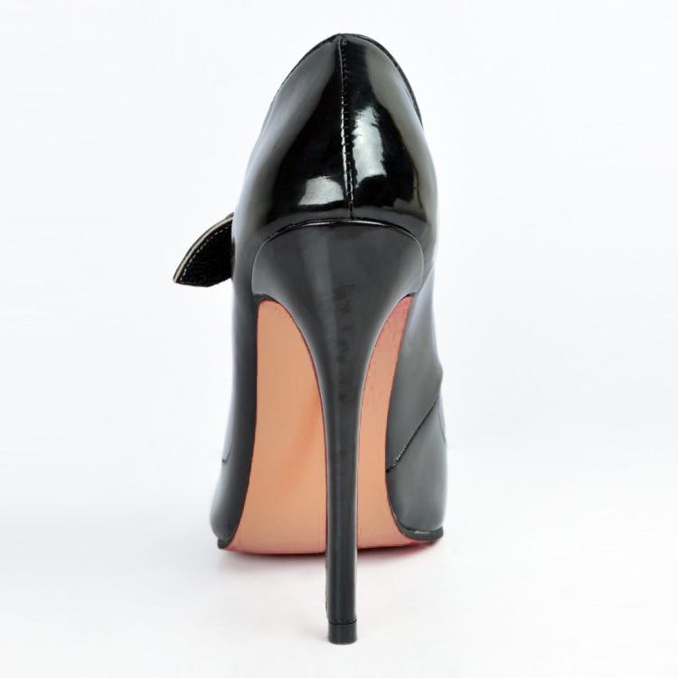 Mary Belle Pointu Chaussures Yifsion Noir 4 D0004 Classiques Bout Nous Black Femmes Pompes Mince Nouvelle Mode Parti Taille Haute 15 Talons Janes PiXuTOkZ
