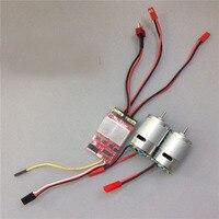 20Ax2 bidireccional cepillado ESC de doble manera ESC regulador electrónico con Motor de alta velocidad 380 para RC DIY Kit de piezas de modelo de coches/barcos