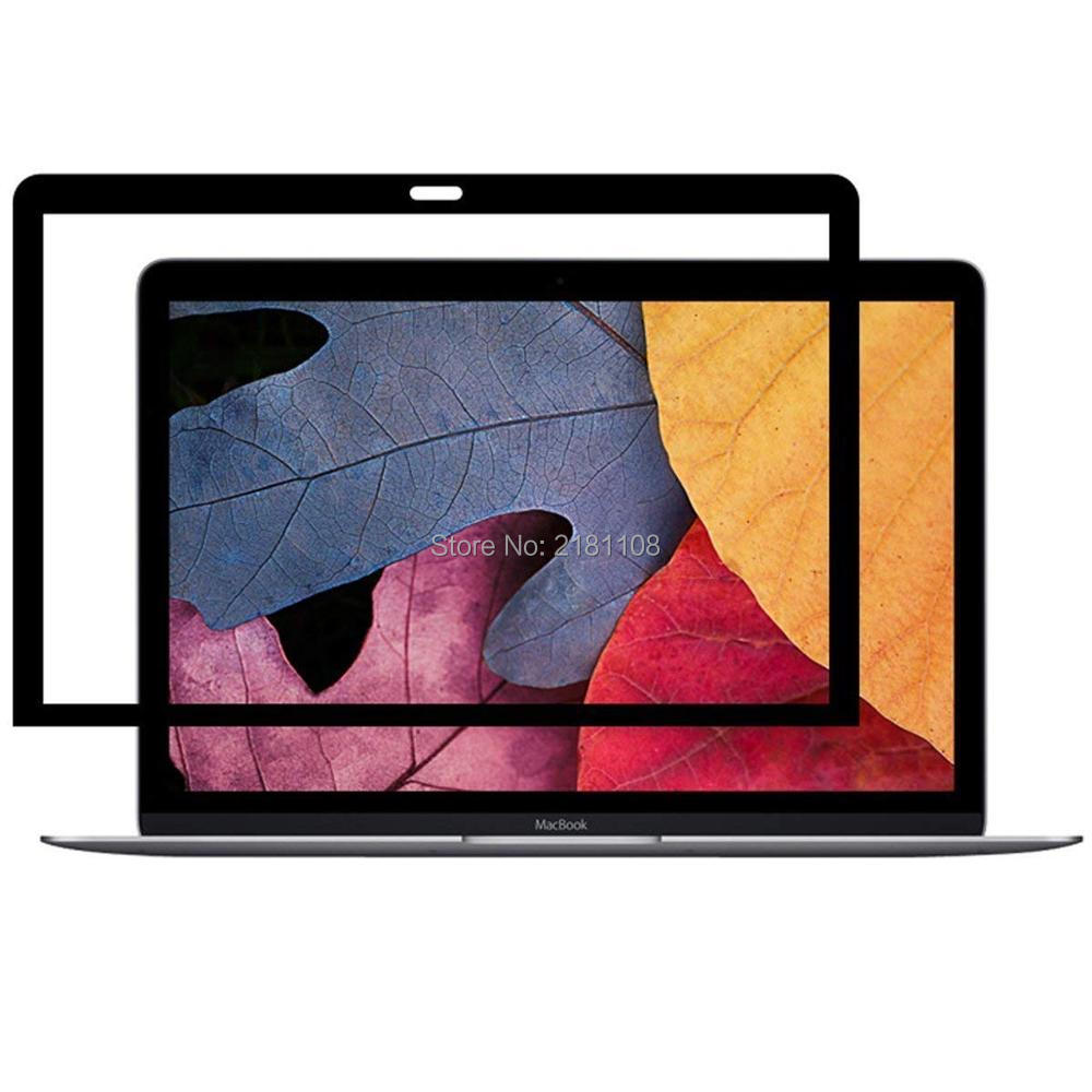 Bubble Free LCD <font><b>Screen</b></font> Protector With Black Frame For Apple Macbook Pro Retina 13.3