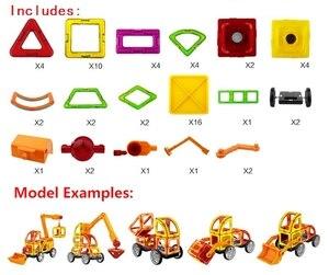 Image 2 - 60 pcs 3D DIY Jogo de Construção Magnético Modelo & Brinquedo de Construção de Plástico Blocos Magnéticos Brinquedos Educativos Para Crianças Presente Para crianças