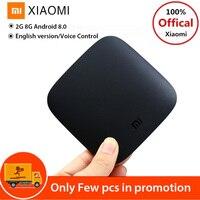 English Version Xiaomi Mi Box 3 Android TV Box Android 6.0 2G 8G Dual WiFi Smart TV Box Quad Core Set Top Box 4K Media Player