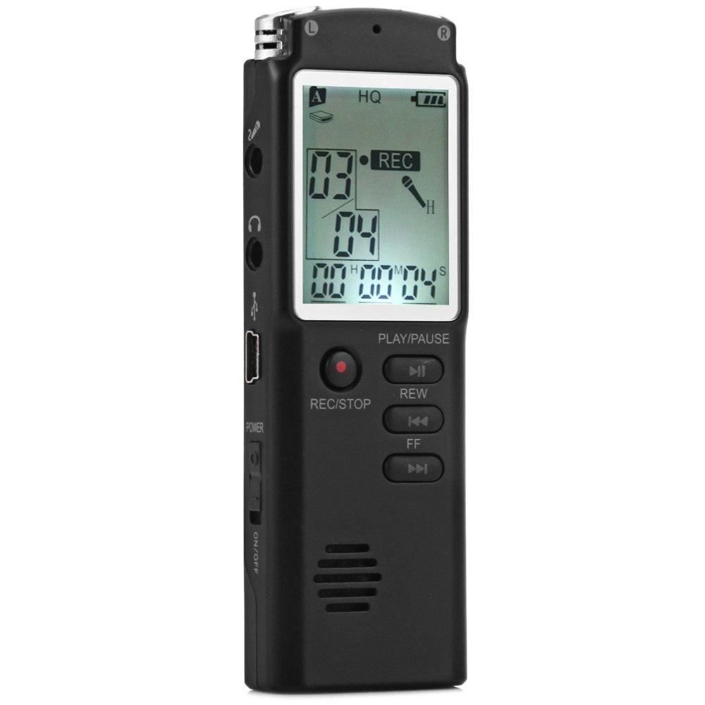 8 ГБ High Fidelity rofessional в реальном времени ЖК-дисплей Дисплей голос Регистраторы диктофон с MP3 аудио Voice memo цифровой плеер функция