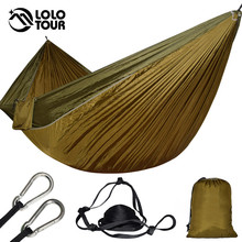 Big Size Double Hammock For 2 Lightweight Portable Hanging Bed Durable Camping Travel Swing Chair Nylon Outdoor Furniture