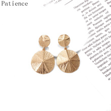 ZA New Metal Round Drop Earrings 2019 Hot Style Brincos Bijoux High Quality  Jewelry Accessories For Women Wholesale