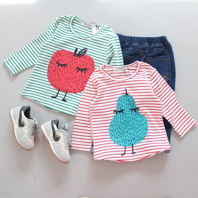 2016 autumn new baby boy clothes baby girl clothes kids bobo choses peanuts pattern cartoon long sleeved cotton t shirts tops