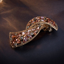 CHIMERA Crystal Hair Barrette Vintage Flower Hairpins Gold Metal Clips Clamps for Women Luxury Wedding Accessories