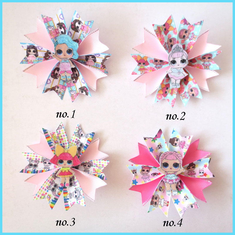 "50 BLESSING 4.5/"" Bowknot Corker Ponytail Elastic Hairbow Unicorn Mermaid Star"