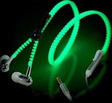 Застежка-молния гарнитуры !!! светятся микрофоном металлическая темноте гарнитура светящиеся стерео световой