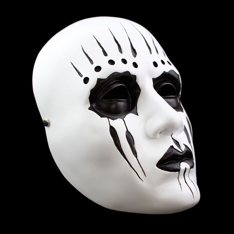 Resin White Slipknot Mask Joey Cosplay Scary Mask For Adult Fancy