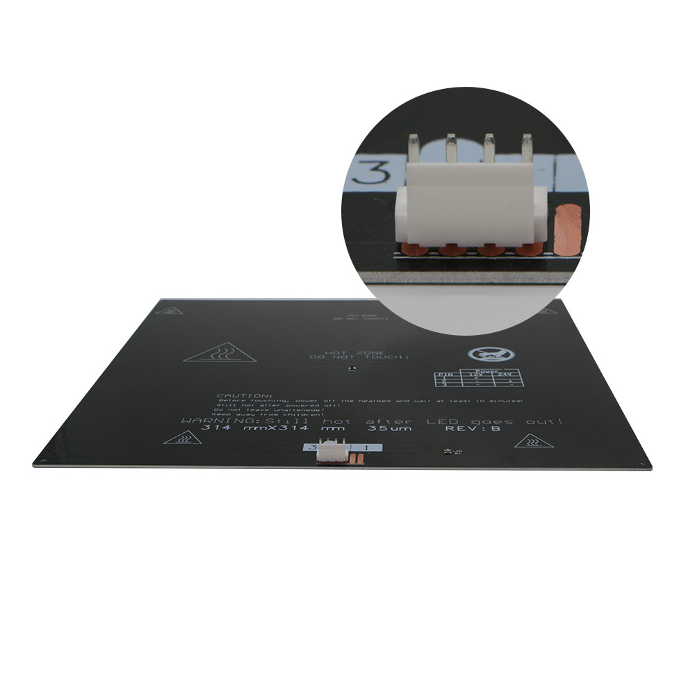 JGAURORA Heated Bed Without Black Diamond Glass for A3S/A5 24V