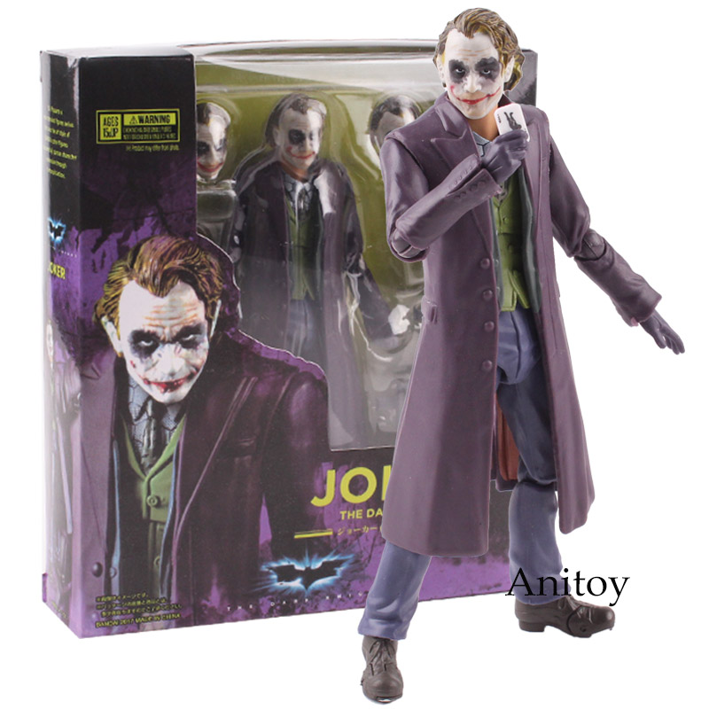 Joker Figure The Dark Night PVC Action Figure Collectible Model Toy 15.5cm KT4780 shfiguarts batman injustice ver pvc action figure collectible model toy 16cm kt1840