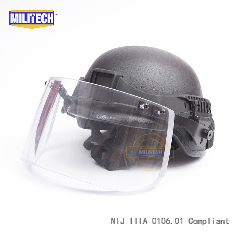 56d5daf0 MILITECH Black BK PASGT Full Cut Tactical Ballistic Helmet With ...