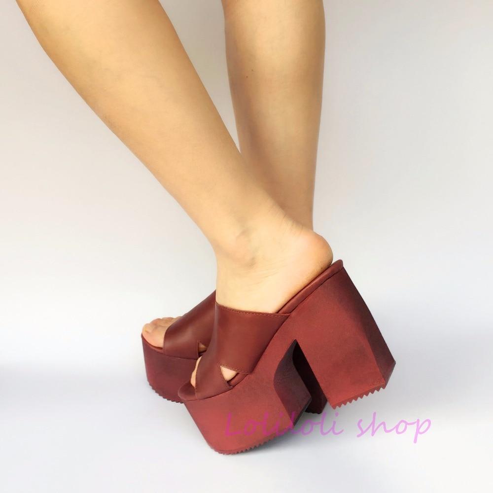 Tacón Dulce Zapatillas An7523 Diseño Cuero Tamaño Japonés De Yoyo Rojo Gran Loliloli Lolita Vino Genuino Multiple Zapatos Alto Princesa 7xHgwWqad7