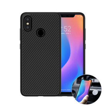 Nillkin Synthetic fiber Carbon PP Plastic Back Cover for xiaomi mi 8 case 6.21'' Magnetic ultra thin slim for xiaomi mi 8 cover