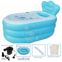 Tamanho 150*90*48cm com bomba espessamento adulto banheira inflável  dobrável ttub  banheiras portáteis  bacia do banho da criança