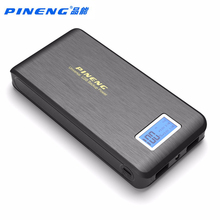 Original PINENG 15000mAh Power bank Dual USB LCD Flashlight External Battery Charger Mobile Phone PowerBank For iphone Android