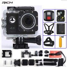 F60 Action Camera F60R Pilot 4 K 1080 P/60fps WiFi 2.0 170D LCD obiektyw Kask Wodoodporna 30 M Ekstremalne Sport Camera