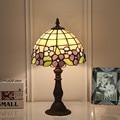 8 дюймов винтажные Тиффани пастроальные цветы абажур для настольной лампы домашний декор витражные стеклянные настольные светильники для ...