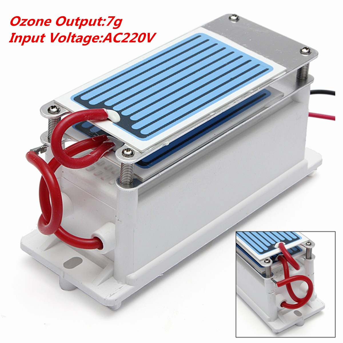 New Ozonizer Diy 7g Ozone Generator Alternator 220v Eu Plug 3g Tube Circuit Board Hr 3000mg H Water Air Cleaner With Double Sheet Ceramic Plate