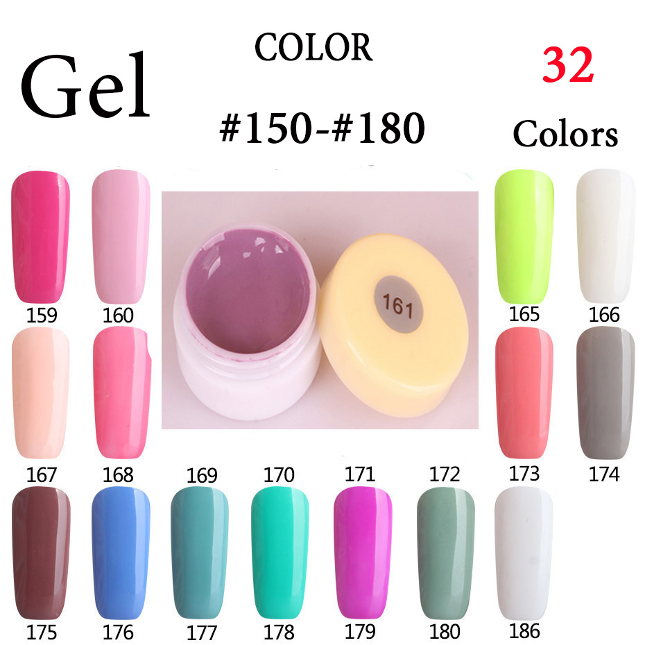 Colors 151 180 pure color uv led nail patinting gel nails painting lacquers paint gel