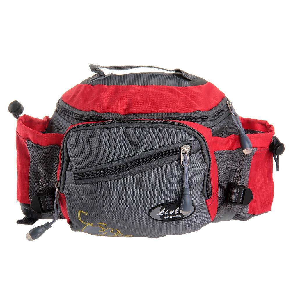 TOMOUNT आउटडोर कमर बैग स्पोर्ट्स मल्टी-फंक्शन Bum Bag मत्स्य पालन साइकिल चालन यात्रा कैम्पिंग लंबी पैदल यात्रा कमर बैग पैक