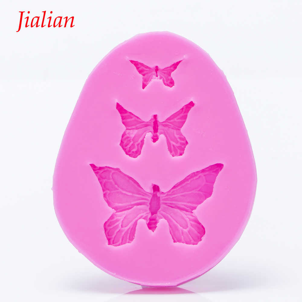Butterfly shaped 3D Reverse sugar molding Food Grade silicone mould for polymer clay molds chocolate cake decoration tools F0101