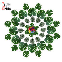 Team Bride Hawaiian Turtle Leaf Hibiscus with Rod and Flowers Diy Tropical Beach Outdoor Indoor for Wedding Table Decor