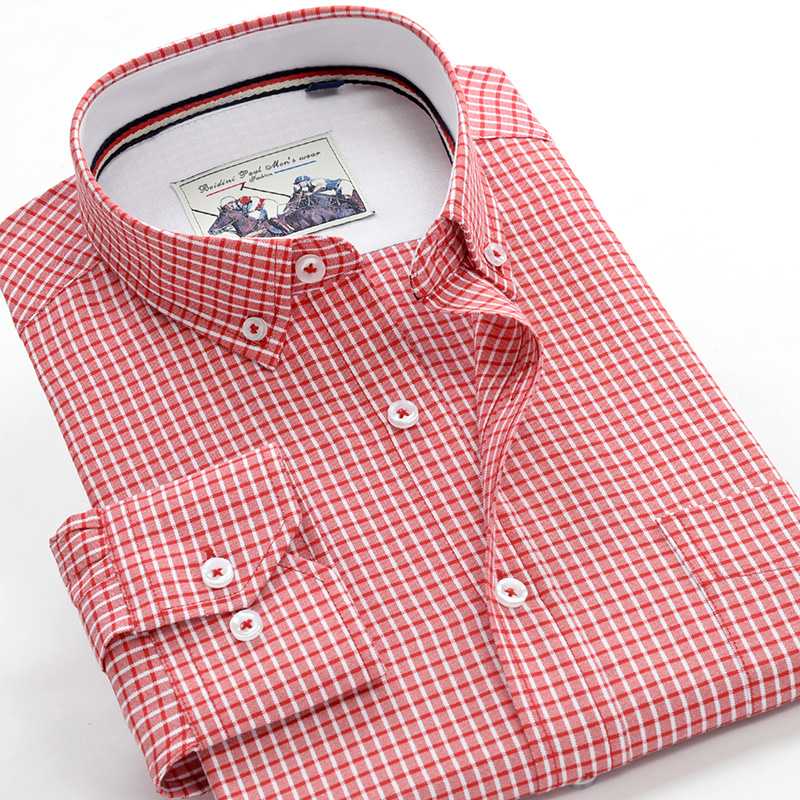 2019 Autumn New Quality Fine Plaid Men's Business Casual Long Sleeve Shirt Large Size Loose Shirt 3XL 4XL 5XL 6XL 7XL 9XL 10XL