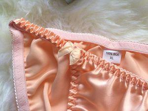 Image 4 - 5 PACK 100% Reiner Seide frauen Sexy Bikini Slip Höschen Unterwäsche Dessous MS001