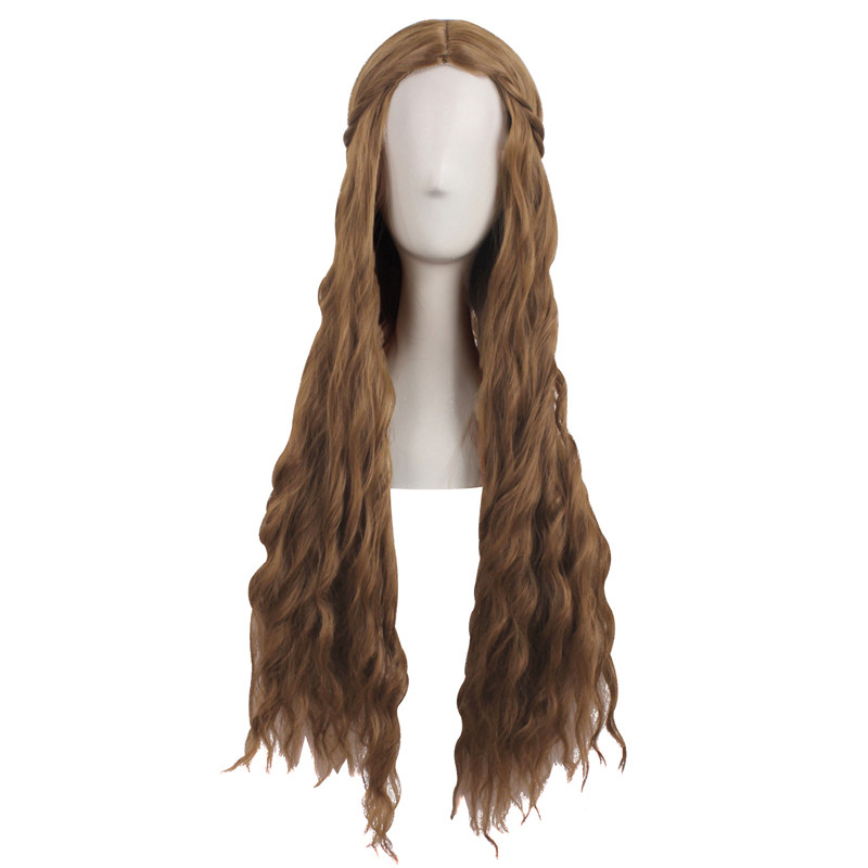 Game of Thrones Cersei Lannister Dark Brown 75cm Long Straight WigCosplay Wig Halloween Party Ladies Heat Resistant Hair