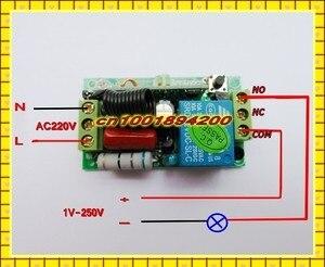 Image 4 - 220 V AC 10A รีเลย์ตัวรับสัญญาณ LED รีโมทคอนโทรลไร้สาย ON OFF สวิทช์กุญแจล็อคปลดล็อก 315433