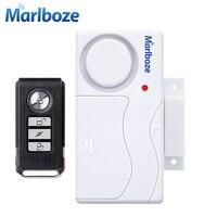 Free Shipping White Color 2pcs Remote Control Door Sensor Alarm Host Burglar Security Alarm System Home