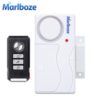 Free Shipping White Color 2pcs Remote Control Door Sensor Alarm Host Burglar Security Alarm System Home