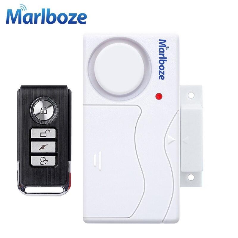 Puerta ventana entrada seguridad ABS Control remoto inalámbrico puerta Sensor alarma Host antirrobo sistema de alarma de seguridad Kit de protección del hogar