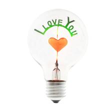 Novelty Lighting Art Decoration Edison Retro Vintage Decorative Incandescent Bulb 3W 220V E27 I Love You Love Rose Sunflower cheap Incandescent Bulbs 6000hrs ROHS 2800 Indoor Aluminum Transparent Warm White (2700-3500K) 130-200 Apluses