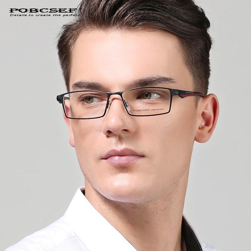 2017 marque titanium métal lunettes cadres hommes TR90 MYOPIE optique  lunettes de ballot d ordinateur a89ed4537565