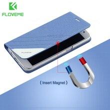 FLOVEME Leather Flip Phone Case For iPhone 5 5S SE iPhone 8 7 6s 7 Plus Cover Cases For iPhone 5s X 5 iPhone 7 6 6s Case Capa